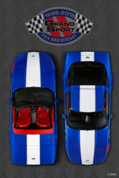 1996 Grand Sport Corvette 20th Anniversary Poster
