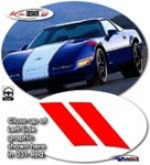 C4 Grand Sport Hashmarks Fender Decals