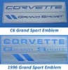 C4/C6 Grand Sport Emblem Metal Sculptures